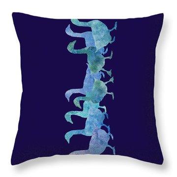 Geese Batik Throw Pillow by Jenny Armitage