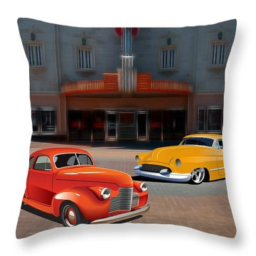 Gem Theater - Kansas City Missouri  Throw Pillow by Liane Wright