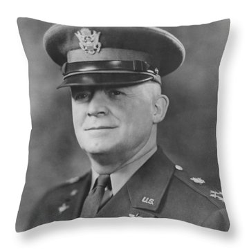 General Henry Hap Arnold Throw Pillow by War Is Hell Store