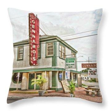 Gennaro's Throw Pillow by Scott Pellegrin