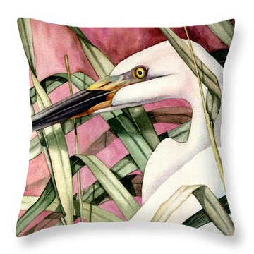 Gentle Breeze Throw Pillow by Lyse Anthony