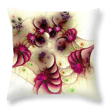 Gentle Pink Throw Pillow by Anastasiya Malakhova
