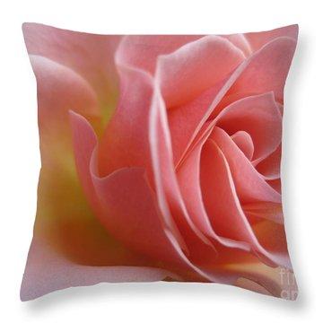 Gentle Pink Rose Throw Pillow by Tara  Shalton