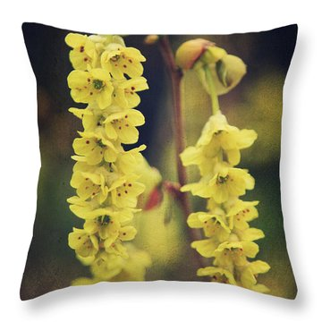 Gently Falling Throw Pillow by Laurie Search
