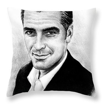 George Clooney Throw Pillow by Andrew Read