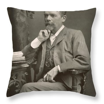George Du Maurier Throw Pillow by Stanislaus Walery