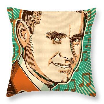 George Jones Pop Art Throw Pillow by Jim Zahniser