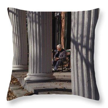 George Street Boone  Throw Pillow by Sid Webb