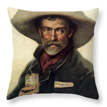 George Wiedemann's Brewing Company C. 1900 Throw Pillow by Daniel Hagerman