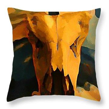Georgia O'keeffe Influence In Nova Scotia Canada Throw Pillow by John Malone