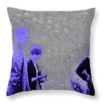 Gertrude Fashion 1920s Throw Pillow by First Star Art