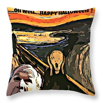 Ghosts Of The Past Throw Pillow by John Malone