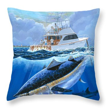 Giant Bluefin Off00130 Throw Pillow by Carey Chen