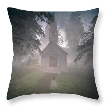 Girls Dream Throw Pillow by Kylie Sabra