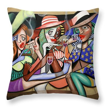 Girls Night Out Throw Pillow by Anthony Falbo