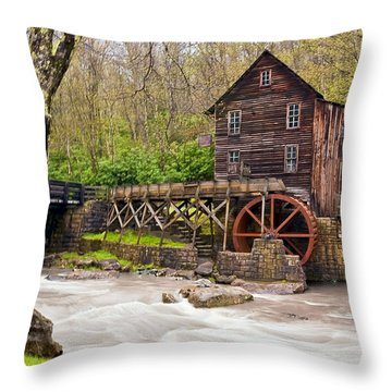 Glade Creek Throw Pillow by Marcia Colelli