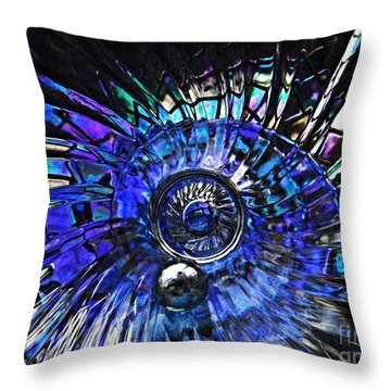 Glass Abstract 403 Throw Pillow by Sarah Loft