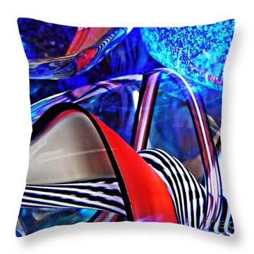Glass Abstract 503 Throw Pillow by Sarah Loft