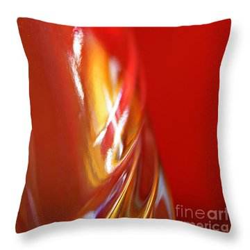 Glass Abstract 738 Throw Pillow by Sarah Loft