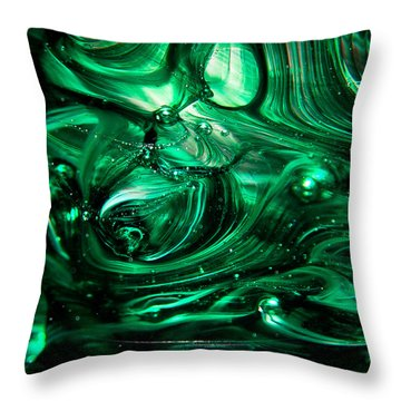 Glass Macro Abstract Egw2 Throw Pillow by David Patterson