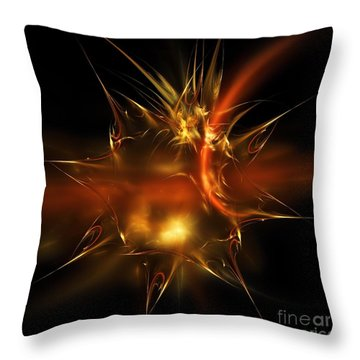 Glass Sticker Throw Pillow by Elizabeth McTaggart