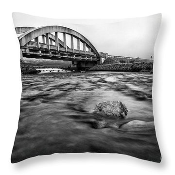 Glen Coe Bridge Throw Pillow by John Farnan