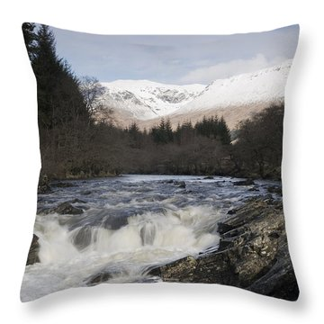 Glen Orchy Scotland Throw Pillow by Pat Speirs