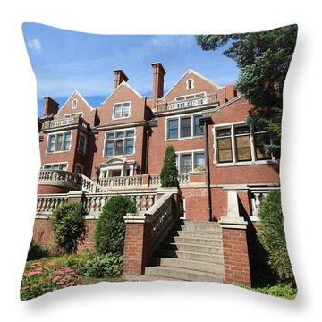 Glensheen Mansion Exterior Throw Pillow by Amanda Stadther