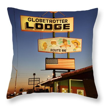 Globetrotter Lodge - Holbrook Throw Pillow by Mike McGlothlen