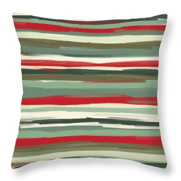 Gloomy Beach Day Throw Pillow by Lourry Legarde