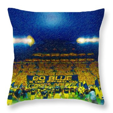 Glory At The Big House Throw Pillow by John Farr