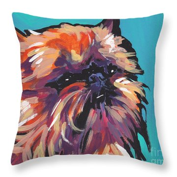 Go Griff Throw Pillow by Lea S