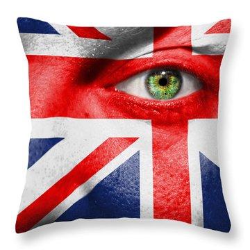 Go United Kingdom Throw Pillow by Semmick Photo