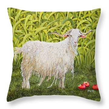 Goat Throw Pillow by Ditz