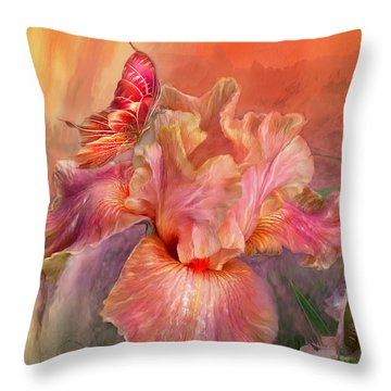 Goddess Of Spring Throw Pillow by Carol Cavalaris