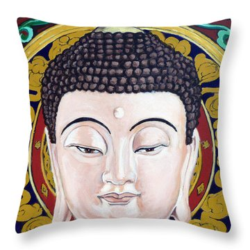 Goddess Tara Throw Pillow by Tom Roderick