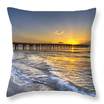 God's Glory Throw Pillow by Debra and Dave Vanderlaan