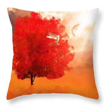 God's Love Throw Pillow by Lourry Legarde