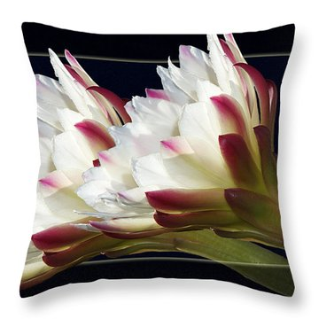 God's Trumpets Throw Pillow by Phyllis Denton