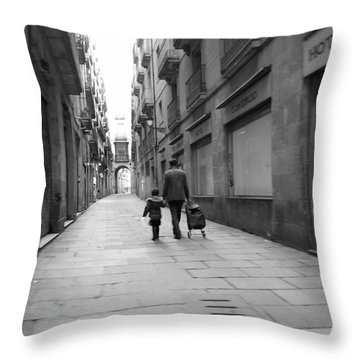 Going Where II Throw Pillow by Art CineMedia