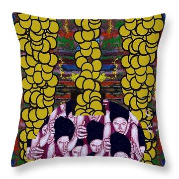 Gold 1 Throw Pillow by Patrick J Murphy
