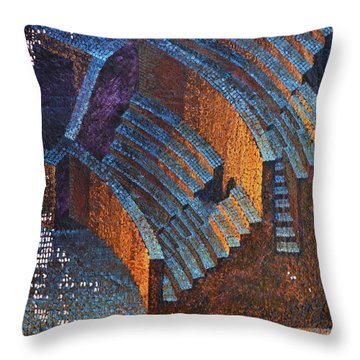 Gold Auditorium Throw Pillow by Mark Howard Jones