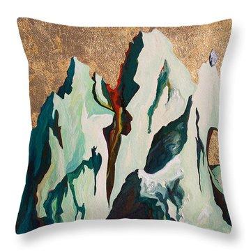 Gold Mountain Throw Pillow by Joseph Demaree