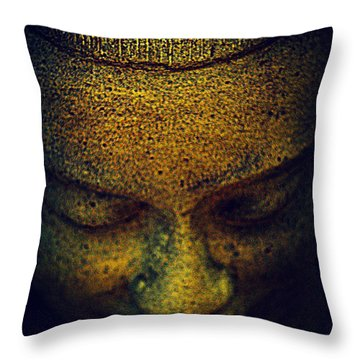 Golden Buddha Throw Pillow by Susanne Van Hulst