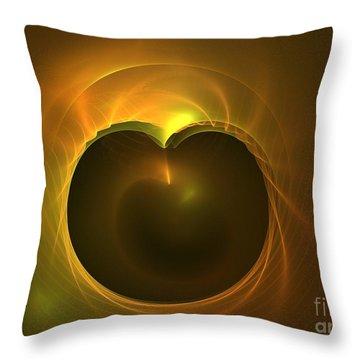 Golden Delicious Throw Pillow by Kim Sy Ok