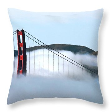 Golden Gate Bridge Clouds Throw Pillow by Tap On Photo