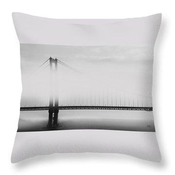 Golden Gate Bridge - Fog And Sun Throw Pillow by Ben and Raisa Gertsberg