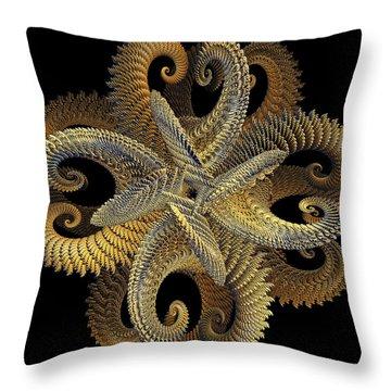 Golden Grace Throw Pillow by Michael Durst