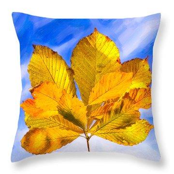 Golden Memories Of Fall Throw Pillow by Mark E Tisdale