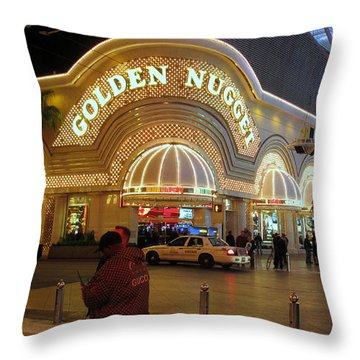 Golden Nugget Throw Pillow by Kay Novy